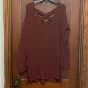 Ambiance Apparel Burgundy Sweater